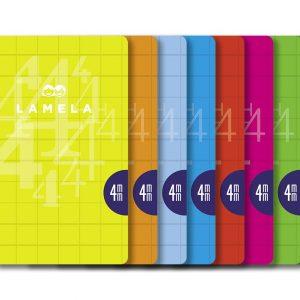 Libreta grapa A4 50 hojas. Cubierta cartoncillo plastificado. Cuadrovía 4mm.